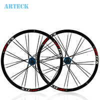 26 ''zoll 24 Löcher MTB Mountain Bikes Fahrräder Straße Disc Bremse Rad Naben Felge messer kreis Laufradsatz Teile