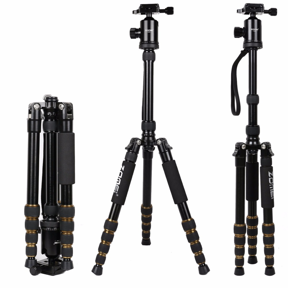 Zomei Z699 Professional Aluminum Travel Tripod Monopod with Ball Head Stand for Camera Camcorder