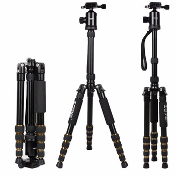 Zomei Z699 Professional Aluminum Travel Tripod Monopod with Ball Head Stand for Camera Camcorder professional q 668 pro slr camera aluminum alloy traveling tripod monopod with qzsd 02 changeable portable ball head 20%