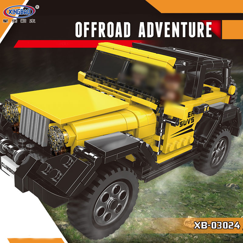 New XingBao 03024 512Pcs Car Series The Offroad Adventure Set Building Blocks Bricks Toys Educational Funny Kids Gifts Model