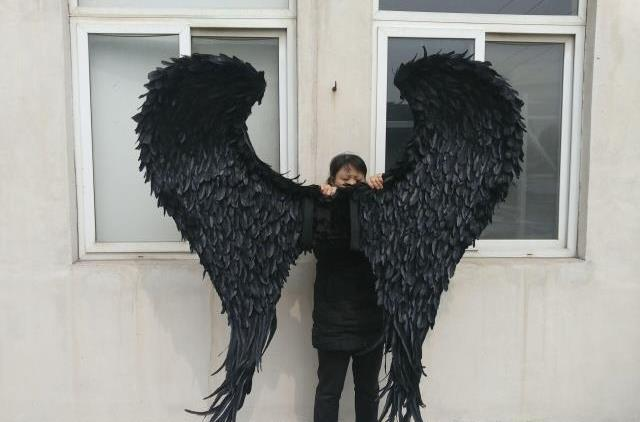 Size High Quality Cosplay Props Large Black Devil Angel Wings Wedding Bar Decorations Photography