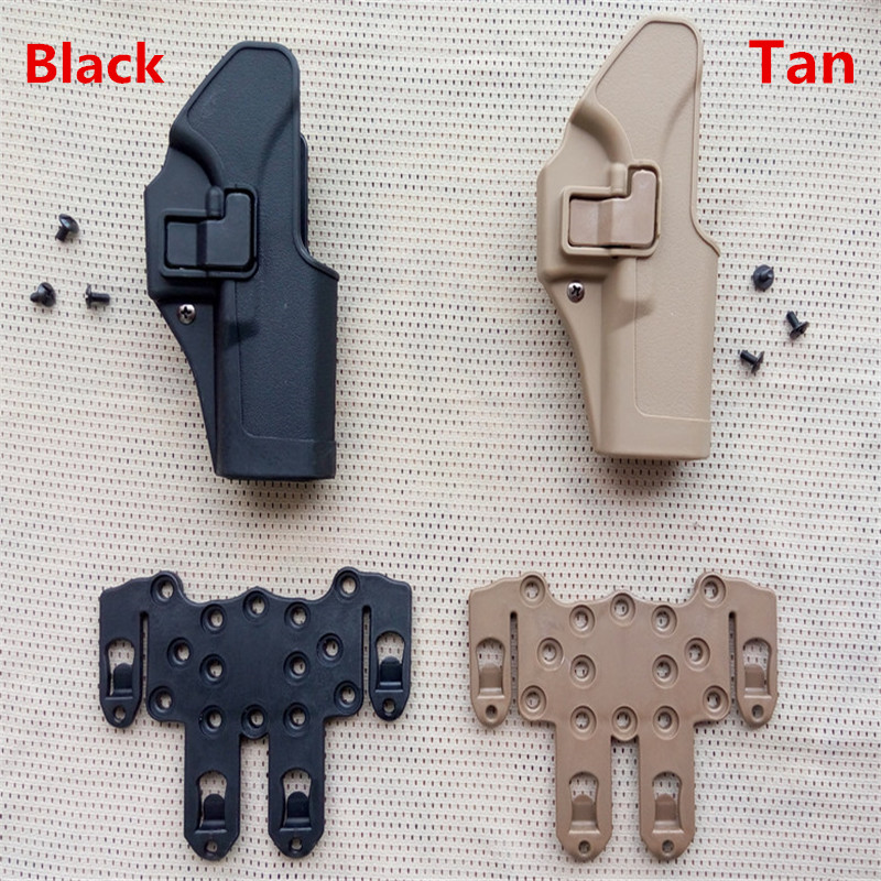 High Quality Tactical Military Army Airsoft Fit Chest Waist Leg Paddle Molle Holster Glock 17 Holster