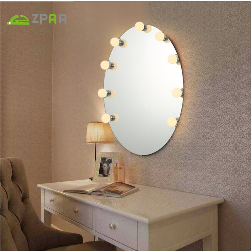 Us 11 49 47 Off 5 10 12 Pcs Makeup Mirror Dressing Light Vanity Three Colors Led Bulbs Kit For Table With Dimmer In No