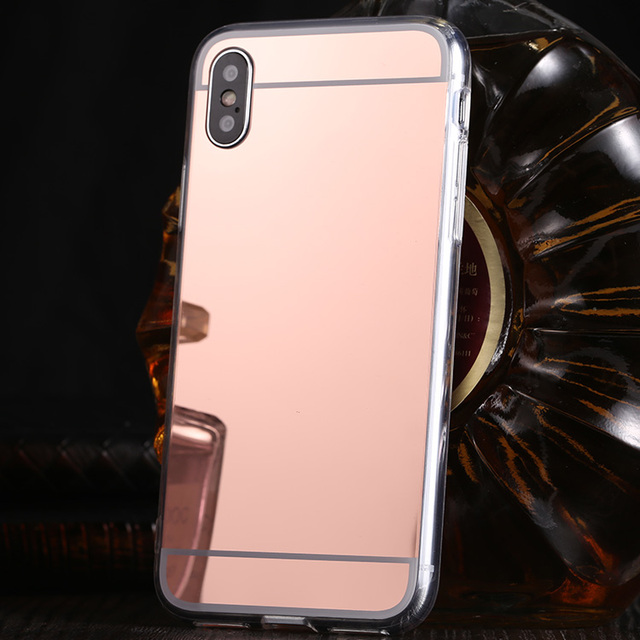san francisco dd30e aca0c US $1.35 |For iPhone X Cases Mirror Case For iPhone 8 7 6 6S 5S 5 SE Strong  Shell Cover For iPhone 6 6s 7 8 Plus i7 i7P Soft Funda Coque-in Fitted ...