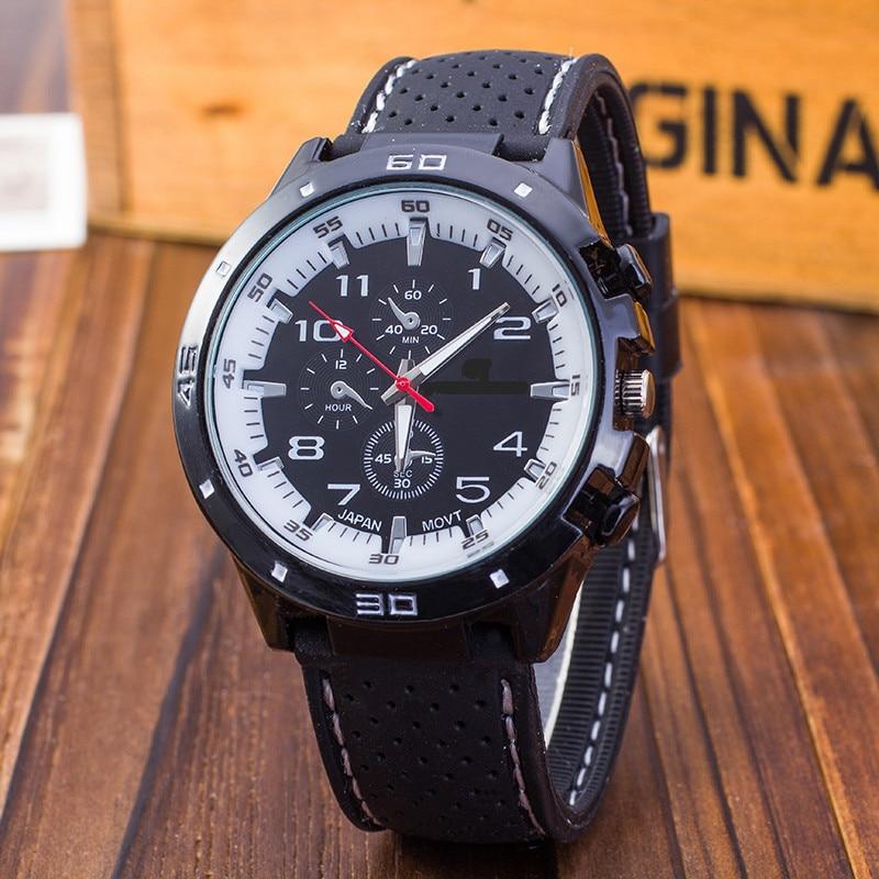 Zegarki Meskie Clock Sport Men Watch Geneva Alloy Men's Digital Dial Analog Quartz Wrist Watch Men Military Watches Reloj Hombre