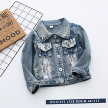 Baby Girls Clothes 2017 girls coat autumn children jackets Long sleeves Denim embroidery jacket coat girl clothing