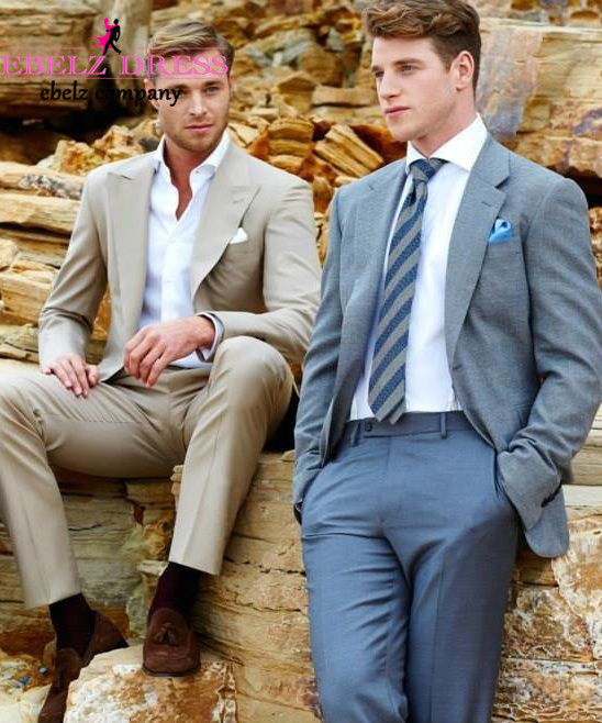 2015 Custom Made Light Blue Party Formal Or Casual Suit Summer ...