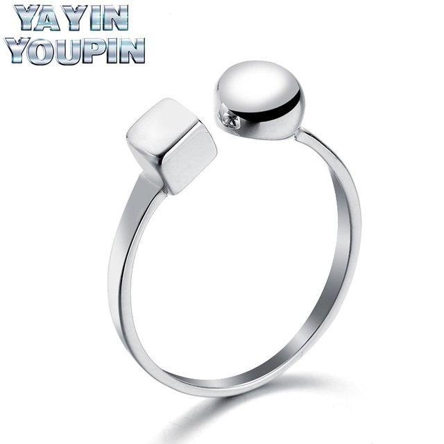 YA YIN YOU PIN S925 Pure Silver Ring Garden And Box Simple Fashion Light Luxury Fashion Jewelry Professional 925 Sterling Silver