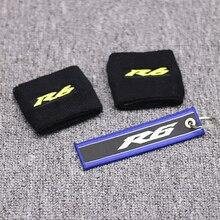 Мотоцикл YZF R6 3D Логотип передний тормоз резервуар носок жидкость масляный бак крышка рукав для Yamaha R6 черный и желтый