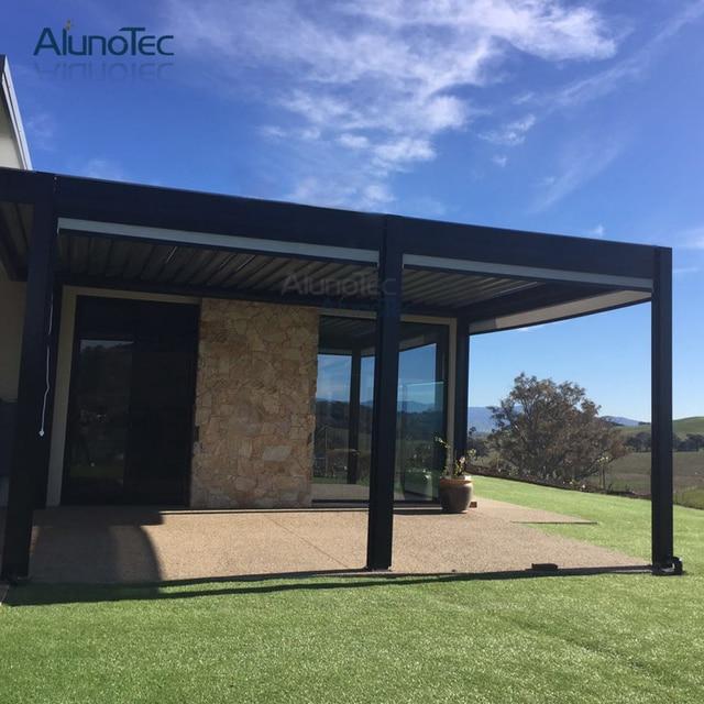 pergola aluminum, aliexpress : buy aluminum pergola motorized opening roof with, Design ideen