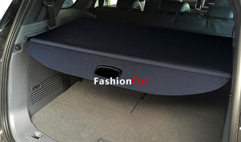 Black Color Rear Trunk Security Shield Cargo For Ford Everest SUV 4 Door 2015 2016 Car styling car rear trunk security shield shade cargo cover for nissan qashqai 2008 2009 2010 2011 2012 2013 black beige