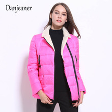 Danjeaner 2018 Winter Jacket Women Plus Size Womens Parkas Thicken Outerwear Solid Coats Short Female Slim Cotton Padded semir winter jacket women plus size l womens parkas thicken outerwear solid coats short female slim cotton padded basic tops