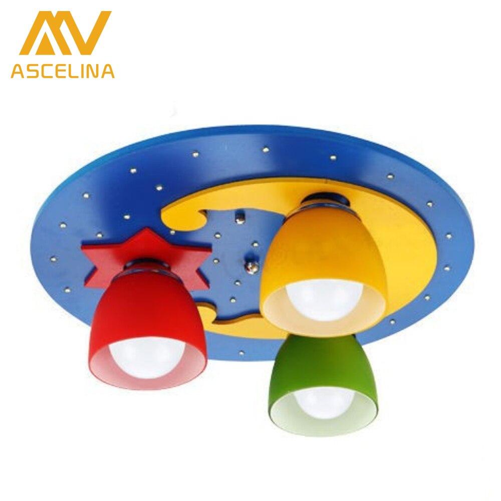 ФОТО modern LED ceiling lights for bedroom Children night light living room E27 children's Light fixtures luminaria lampshade avize