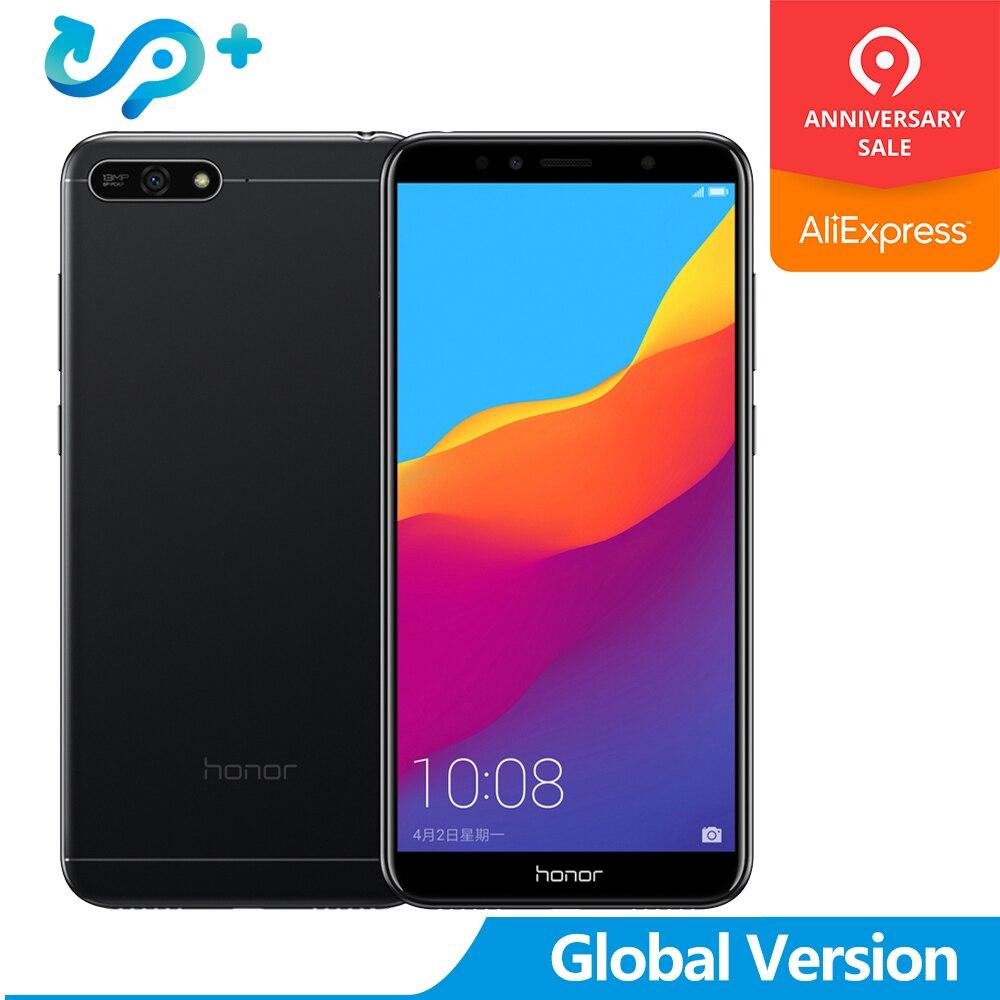 Version mondiale Honor 7A 2GB 16GB 4G LTE téléphone mobile identification de visage déverrouiller 5.7 ''plein écran Android 8.0 13MP caméra 3000mAh