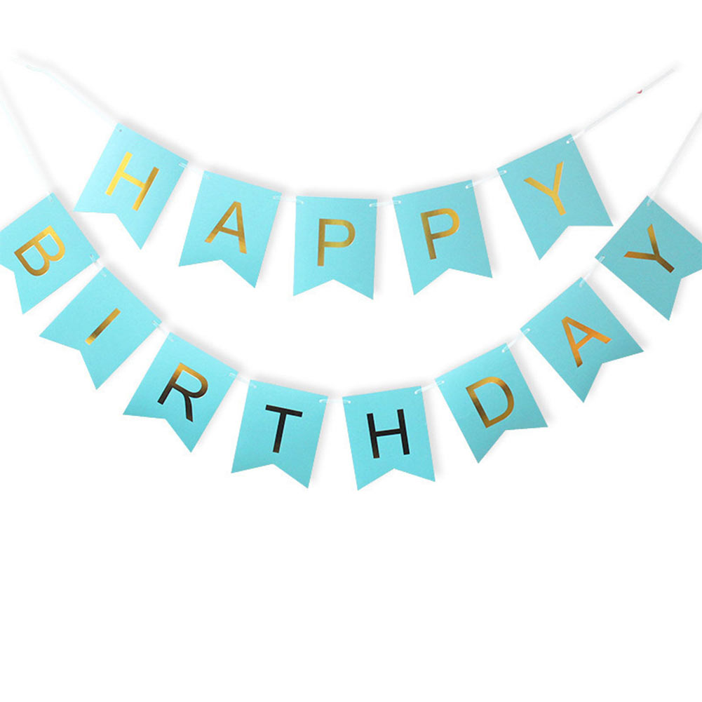 Image 4 - 1 Bag Lovely Hang Pennants Happy Birthday Paper Flag Party Favor Decor Celebration Supplies XH8Z JY20-in Banners, Streamers & Confetti from Home & Garden