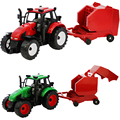 Happy Cherry Kids Children Farmer Using Tractor Truck Toys Set Gifts for Baby Boys Girls Model Cars Toy