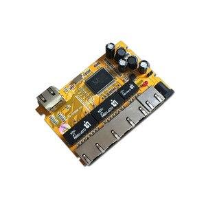 Image 2 - OEM/ODM PCBA תעשייתי מתג modulee5 יציאת 10/100/1000 M לא מנוהל רשת ethernet מתג ethernet רכזת מנוהל poe מתג