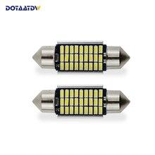 DOTAATDW 2x Led Car Light 3014 SMD Pure White LED Canbus Erro 41 39 36 31mm mm mm mm grátis Festoon Lâmpadas Matrícula