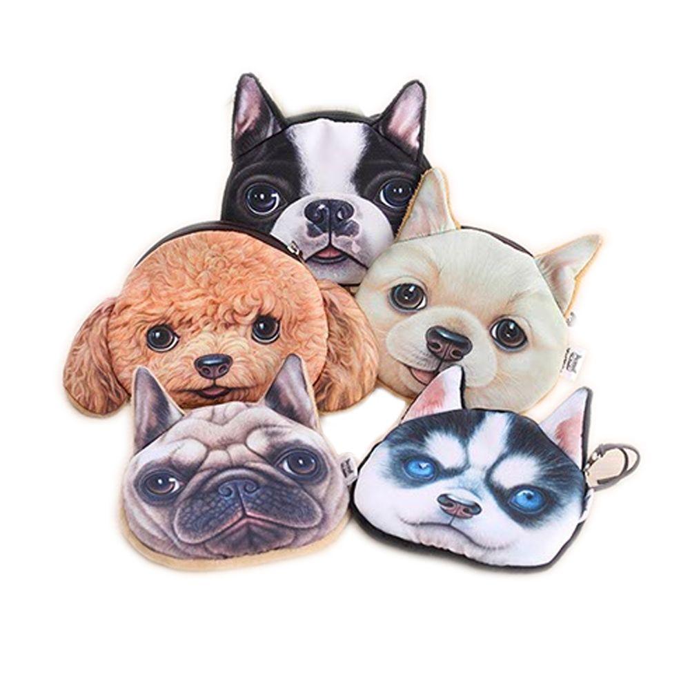 Praktisch Reizende Nette 3d Tiere Teddy/siberian Husky/bulldog/golden Retriever/glocke Hunde Münze Taschen Geldbörse Brieftasche Beutel Kleine Handtasche