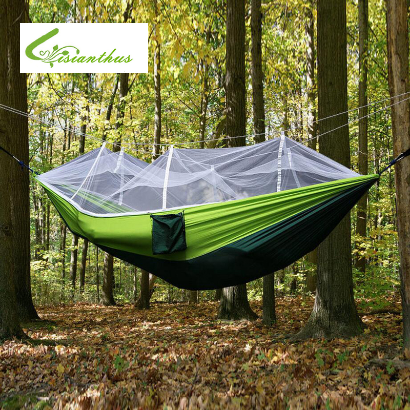 ФОТО New Handy Parachute Hammock Parachute Nylon Mosquito Net Camping Hammock Single-Person Portable Indoor Outdoor Camping Hangmat