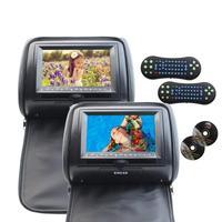 Eincar 7 двойной автомобильный DVD Подушка подголовник монитор поддержка IR FM USB передатчик SD мультимедийная система CD DVD видео плеер