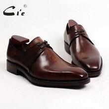 Cie/ ; Goodyear; Мужские модельные туфли ручной работы из телячьей кожи; классические туфли дерби; цветной светильник; дышащая обувь с коричневым покрытием; D141