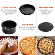 Air Fryer Accessories 8 Inch for 5.8 qt XL Air Fryer 9 pieces for Gowise Phillips and Cozyna Air Fryer Fit 4.2 qt to 5.8 qt Gift relogio fs qt