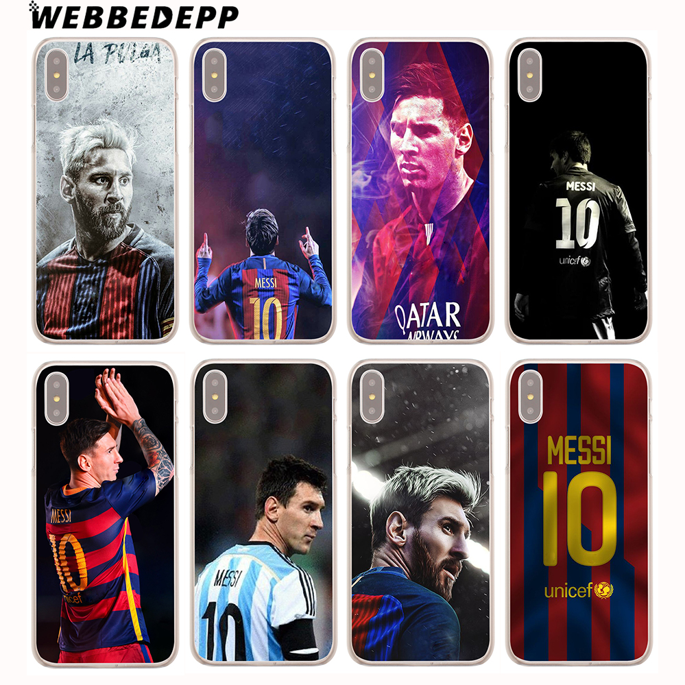 WEBBEDEPP Neymar Messi Football Soccer Hard Cover Case for iPhone 8 7 6S Plus X/10 5 5S SE 5C 4 4S