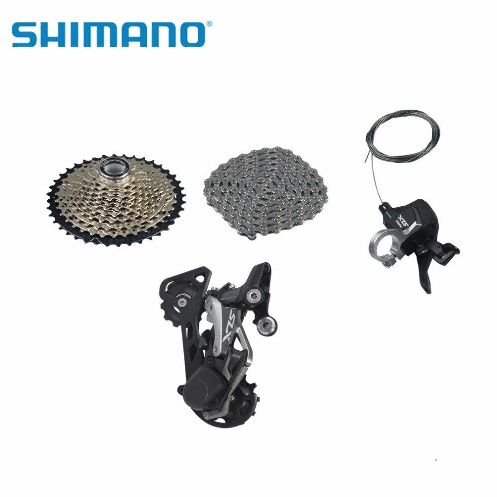 SHIMANO SLX M7000 Vélo Transmission Groupe M7000-11 Arrière Dérailleur 11-40 T Roue Libre Droit Vélo manette de vitesse HG601 CHAÎNE (11 vitesse)