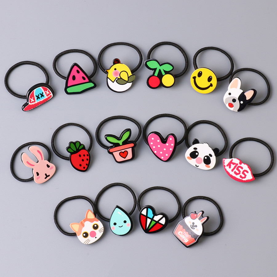 Korean Acrylic Animal Rabbit Hair Clip Kids Heart Pattern Hair Accessories Kids Barrettes Girl Gift Mini Elastic hair rope l4 new hair claw for women girl elegant high quality hair clip party decorations holiday gift accessories