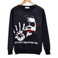 2016 Joker Sweatshirt Badass Tattooed Joker Dark Knight 3d Sweats Women Men Batman DC Comics Hoodies