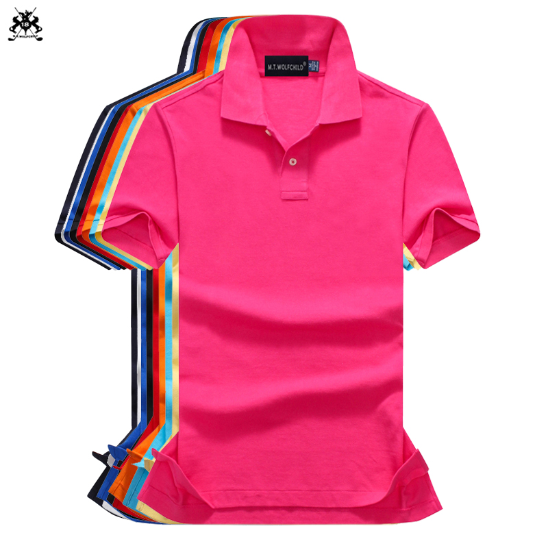 Fashion 2018 Summer New style mens short sleeve   polos   shirts cotton solid color mens lapel   polos   casual slim mens tops 16 colors
