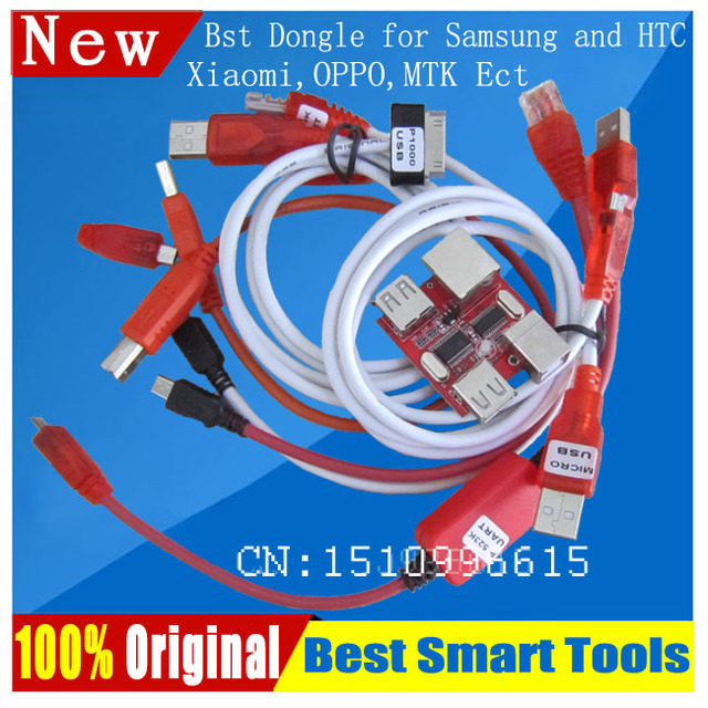 US $29 9  BST dongle for HTC SAMSUNG Xiaomi Oppo unlock screen S6,S7 lock  repair IMEI read NVM/EFS ROOT record date Best Smart tool dongle-in Telecom
