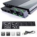 USB Ventilador de Refrigeración para PS4, control de la temperatura externa turbo ventiladores de enfriamiento del refrigerador 5 para playstation ps4