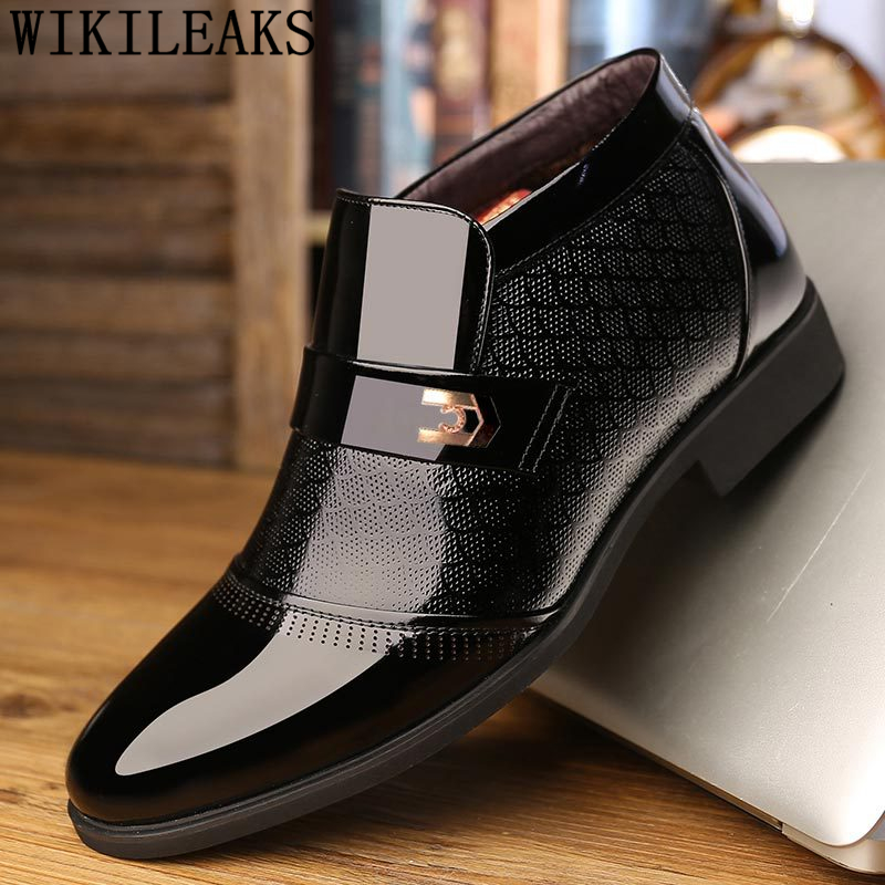Ankle Boots Men Winter Shoes Formal