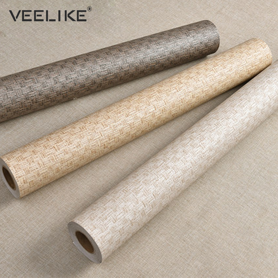 Vintage Flax Waterproof Washable Vinyl Peel And Stick Wallpaper For Living Room Bedroom Decor Self Adhesive Wallpaper Home Decor