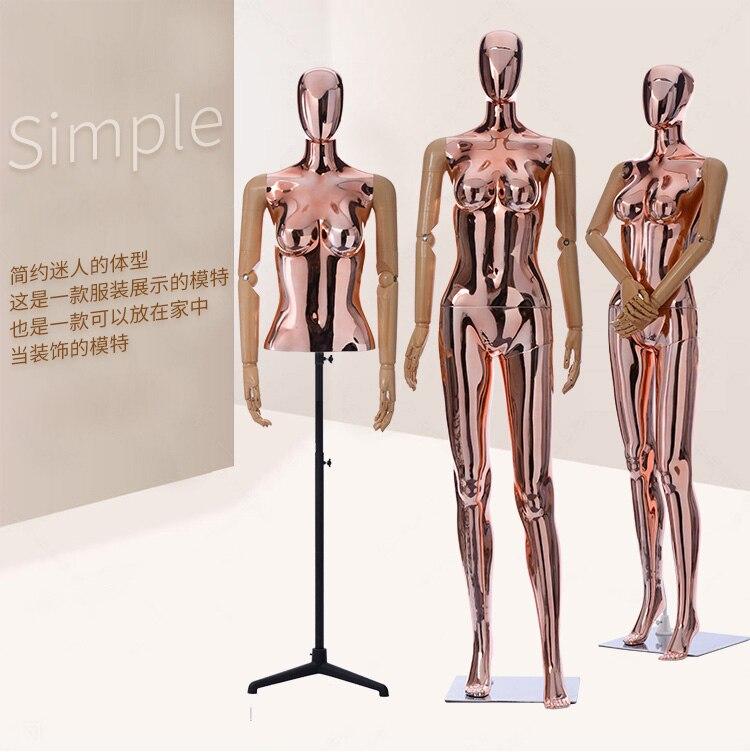 Nouveauté 2019 Mannequin Flexible femme Unique couleur dorée modèle de qualité supérieure