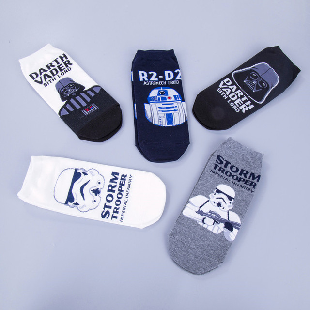 Star Wars Funny Casual Cotton Socks With Darth Vader R2D2 And Stormtrooper