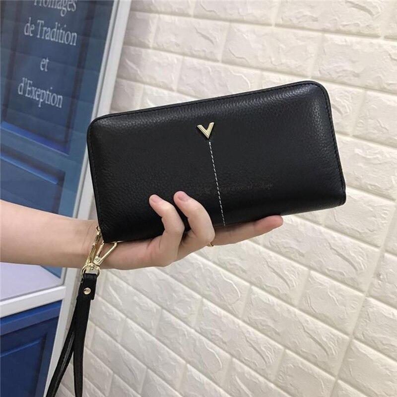 ESUFEIR Echtem Leder Frauen Brieftasche Luxusmarke Standard ...