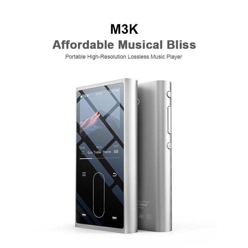 Recoder para o Estudante Lcd de Alta 3 com Voz Fiio Metal Case Esporte Áudio Mini Tela Fidelidade Mp3 Player Música mp Crianças M3k