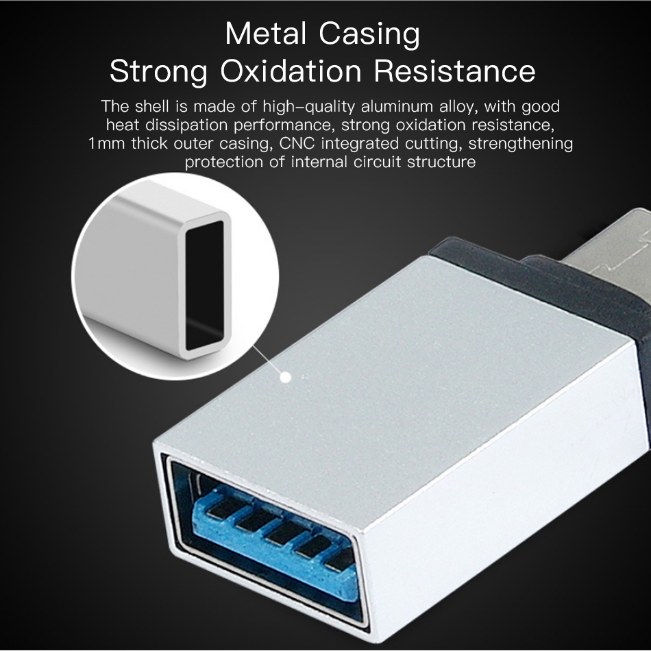 !ACCEZZ USB OTG Adapter Type C To USB Flash Converter For One Plus 5 For LG G5 G6 Xiaomi Mi 5 6 8 Samsung Galaxy S8 S9 Data Sync (3)