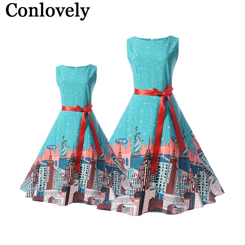 92edae9e5cc Μαμά νύφη φορέματα οικογένεια ταιριάζουν ρούχα vintage τυπωμένα εφηβικά  κορίτσια ...