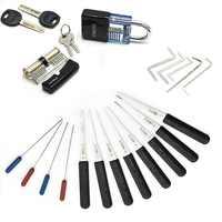 Liushi Schlosser Lieferanten Praxis Lock Pick Set Spannung Schlüssel Schlüssel Hand Werkzeuge Gebrochen Schlüssel Werkzeug Kombination Vorhängeschloss Hardware