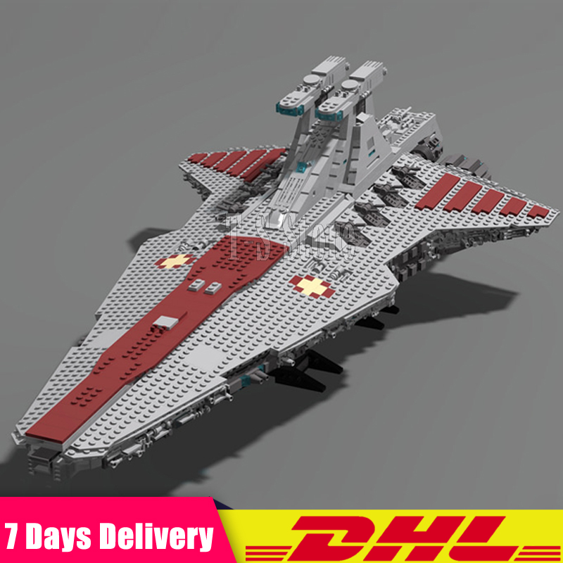 DHL IN Stock LEPIN 05077 Star 6125 PCS Wars The UCS Rupblic Star Destroyer Cruiser ST04 Building Blocks Bricks Set DIY Toys lepin 05077 stars series war the ucs rupblic set star destroyer model cruiser st04 diy building kits blocks bricks children toys