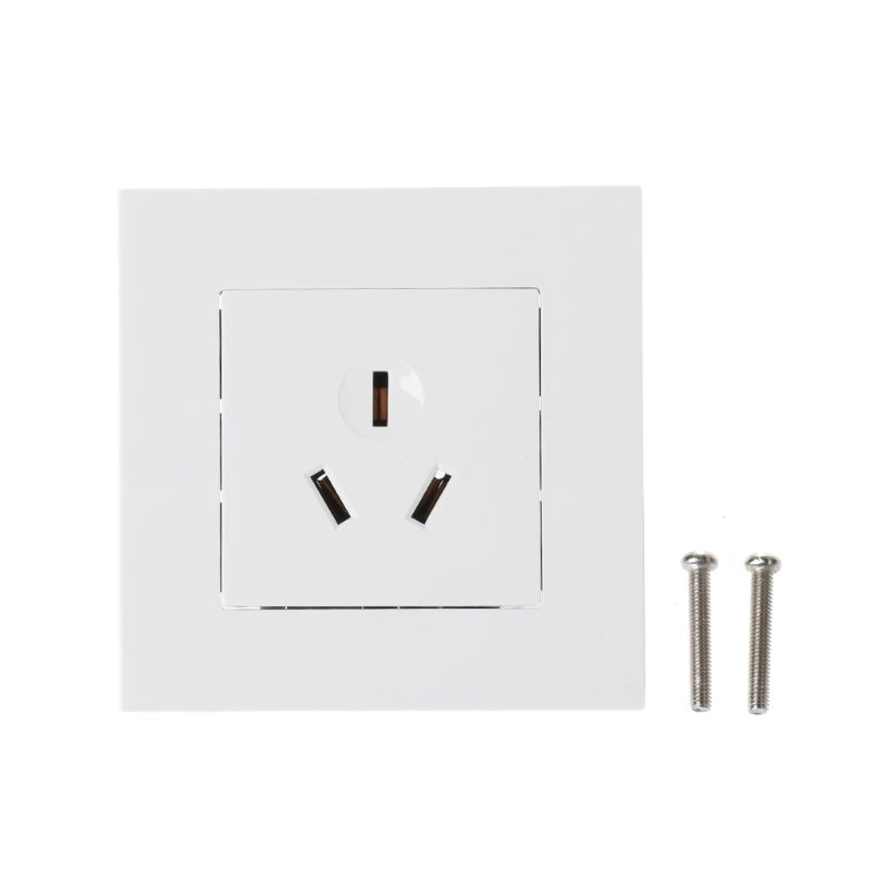 1PC Wall Socket 86 Type 16A Power Outlet With 3 Holes White PC Panel For Air Conditioner Water Heater