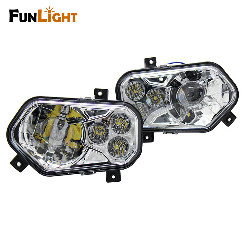 2017 New Product Polaris ATV LED Headlight Kit For 2008-2014 Polaris RZR S 800 / for 2012-2013 Sportsman RZR 800 900 570 brake pads set for polaris atv 900 ranger rzr xp efi 2012 2013 2014 2015 900 rzr xp4 900 2013 2014 2015