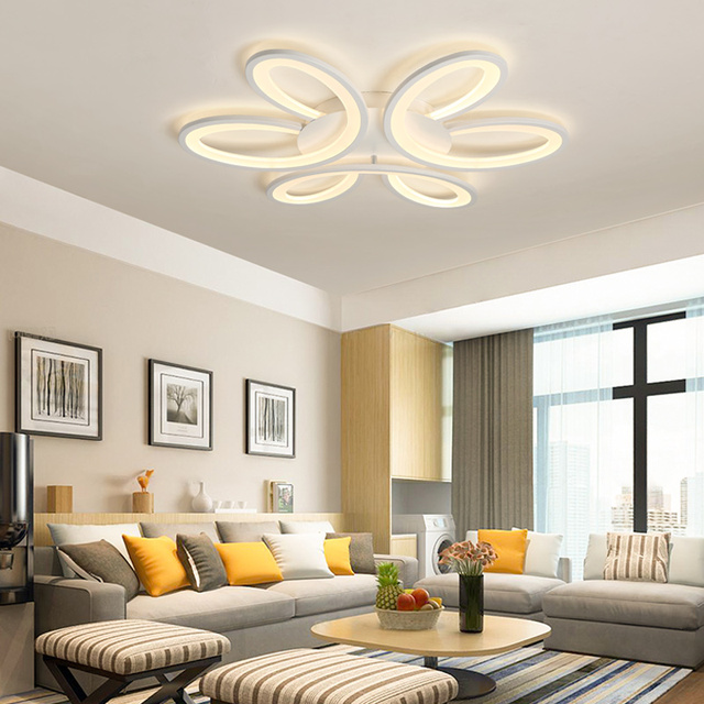 New Modern Led Ceiling Chandelier For Living Room Dining Smart Home Lustres Lighting