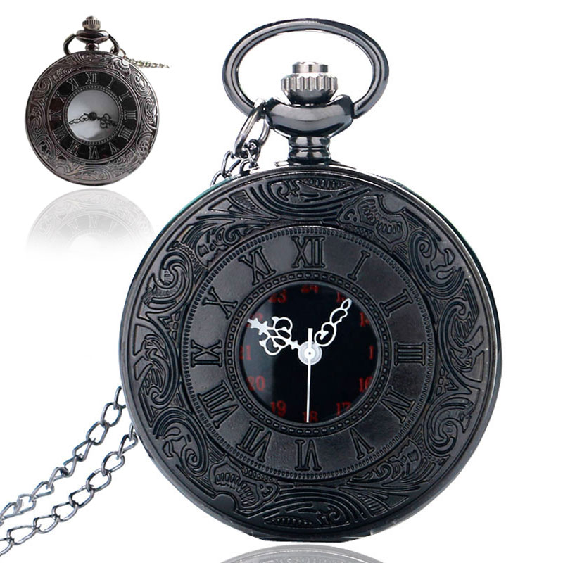 2016 New Dual Display Clamshell Rome Retro Hollow Imitation Mechanical Unisex Men Women Pocket Watch Gift   TT@88