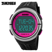 SKMEI Fitness Digital Watch Men Women Sports Watches Pedometer Heart Rate Monitor Calories Counter Outdoor Casual