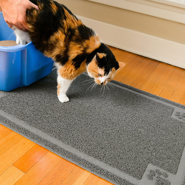 Cat Litter Mat Extra Large 90x60cm Stops All Dirt Tracking and